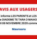 Ouverture Lycée Diadème 9 novembre 2020