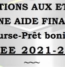 Demande d'allocations pour études supérieures et sport études – 2021-2022